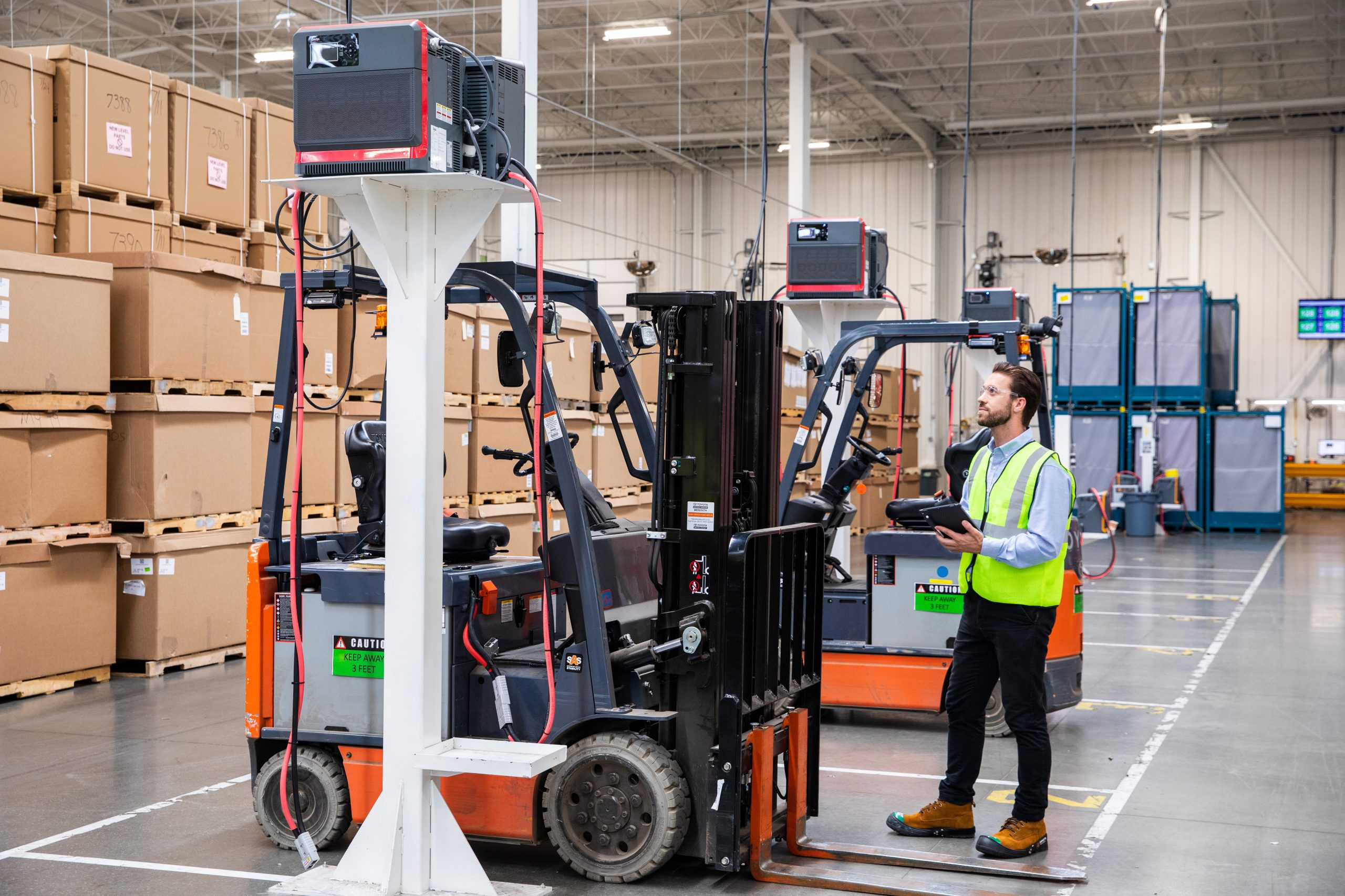 man with forklift
