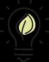 LED bulbs icon