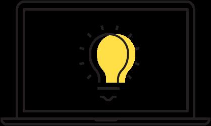 Lighting simulation icon